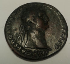 Roman Empire - Domitian Ae As. 86 ad IMP CAES DOMIT AVG GERM COS XI 26 mm weight: 9–10 g