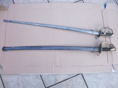 lot of 2 french swords, a Napoleon model 3 1845-55 and a model 3rd Republic 1882