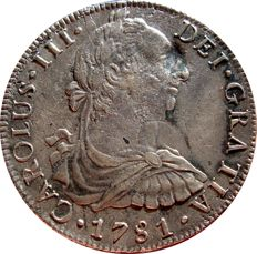 Spain - Charles III (1759-1788), 8 reales silver coin - 1788 - Mexico FF.