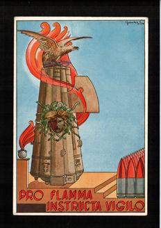 Italy/Germany - 1930/40 - 28 Nazi and Fascist propaganda postcards, Mussolini
