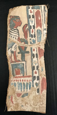 Ancient Egyptian cartonnage fragment - H: 10  inches L: 4 inches