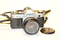 Canon AE-1 with Canon FD 50mm 1.8 S.C. plus UV filter