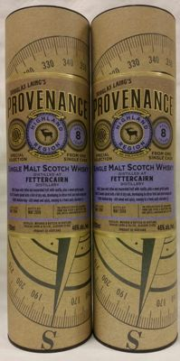 2 bottles - Fettercairn 8 years old - Limited release from one single cask (bottled in 2016) - Douglas Laing Provenance