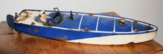 Jep, France Length: 35 cm - JEP tin pond canoe no. 3 with wind-up drive, 30s