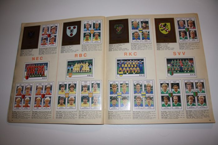 Panini voetbal 85 dutch league 1984 1985 complete for League two table 1984 85