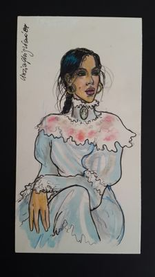 "Ghigliano, Cinzia - original colour illustration ""Solange"""