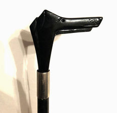 Walking stick with profile of a dog - Italy - 1970