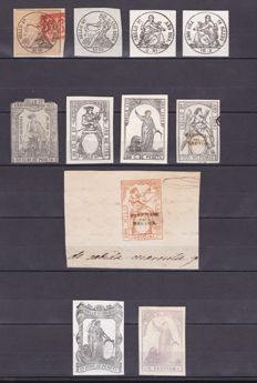 Spain 1852/1925 - Collection of stamps, war taxes, authorized nation and policies