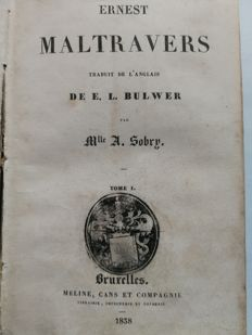 E.L. Bulwer (ed.) - Ernest Maltravers - 2 parts in one volume - 1838