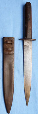 Austro-Hungarian Trench Fighting Knife and Scabbard
