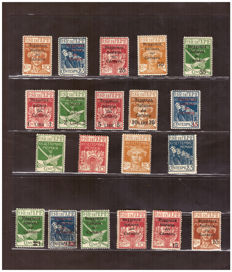 Fiume 1920 - Selection in series - Sassone No.  127-130 and 131-146 and 147-148, Express no. 3 and 4