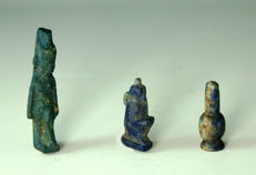 Three Egyptian Amarna Beads & Amulets - 14mm - 25mm height