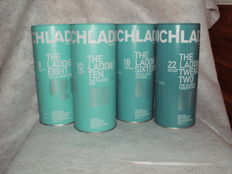 4 bottles - Bruichladdich The Laddie 8, 10, 16 and 22 years old.