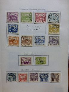 Czechoslovakia 1918/1966 - collection on home-made sheets in 2 folders