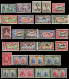 Spain 1900/1939 - Lot with 380 stamps from the 1st Centenary