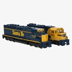Athearn H0 - 4658/4105 - Lot with two Diesel locomotives SDP40 and GP38-2 of the Santa Fe