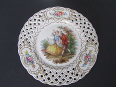 Three Carl Thieme porcelain plates from Dresden
