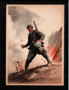 Italy - 1930/40 - 16 propaganda and World War II postcards