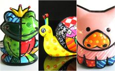 Romero Britto - 3 animals Collection