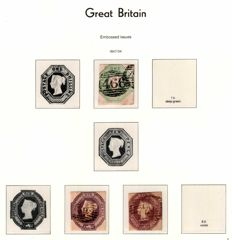 Great Britain Queen Victoria 1847/1854 - Embossed Issues. Stanley Gibbons 54, 58, 60.