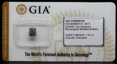 1.01 ct. GIA Certified Natural Fancy Br.- Pink, Even Diamond - NO RESERVE
