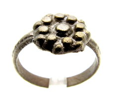 Late Medieval - Tudor Crown Wedding Ring - WEARABLE GIFT WITH GIFT BAG - 19 mm