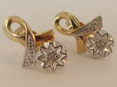 9 kt Gold earrings with Diamond