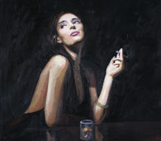 Edward Rychter - Lady with cigarette