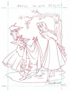 Cardona, Josep Maria - Original production drawing - Sleeping Beauty - Disney Classics