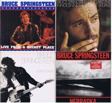 Bruce Springsteen - lot of 5 LP's: 1/2. Live From A Secret Place - 2LP's (1992) | 3. The Wild The Innocent & The E Street Shuffle (1973) | 4. Born To Run (1975) 5. Nebraska (1982)