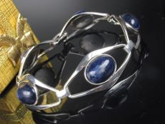 Silver bracelet with sodalite from Scandinavia, length: 18 cm