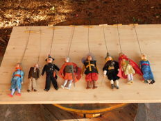 Collection of 56 terracotta marionettes