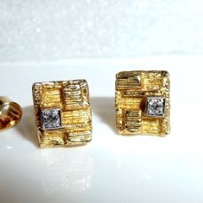 Lapponia earrings in 18 K / 750 gold, each with a total of 0.056 ct diamond. hallmarked - like new, no reserve price