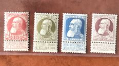 Belgium 1905 - King Leopold II type Coarse Beard 10 cent to 35 cent - OBP 74/77