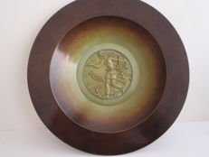 """Ystad Brons"" large decorative plate (40 cm)"