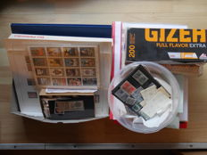 World - collection, from 1876 in bags, circular booklet, boxes, plug-in cards, sheets, 7 pieces Stamp albums, 2 pieces. Selected booklets