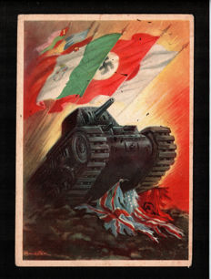 Italy/Germany - 1930/40 - 20 Nazi and Fascist war propaganda postcards