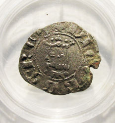Spain - Jaime II medieval billon obolo - Barcelona - 1291 / 1327