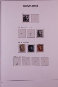 Belgium 1851/1989 - Batch in Davo LX, Davo crystal preprint albums and in stock book