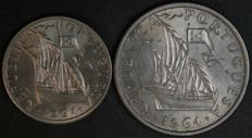 Portugal Republic – 2 ½ Escudos & 5 Escudos – 1964