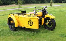 Harley Davidson - ANWB Sidecar - 1 of 7 ever built - 1949