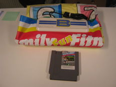 Nintendo nes game. Famely fitnes, Athletic world+ The first game Mat ever used for a consul.