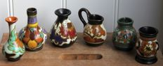 Plateelbakkerij Zuid-Holland - Six pieces of old earthenware