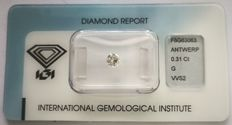 Brilliant cut diamond  0.31 ct  with IGI cert ***Low Reserve Price***