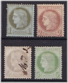 France 1872/73 – Yvert 50, 51, 52 and 53