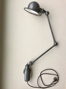 Jean-Louis Domecq for Jieldé - two-armed lamp with table clamp.