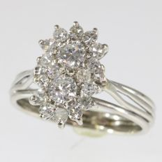 Fifties diamond engagement ring