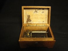 Thorens wooden music box, Switzerland, around 1900