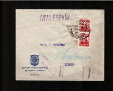 Spain 1936-1945 - Nationalist issues on letter
