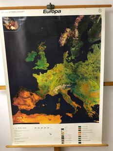 School poster satellite image of The Netherlands
